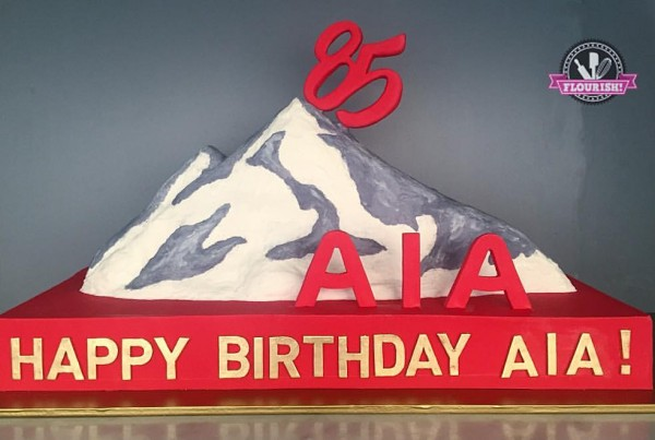 Corporate - AIA 85th Birthday 3D Cake